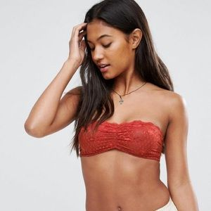 NWT Free People Intimately Lace bandeau terracotta